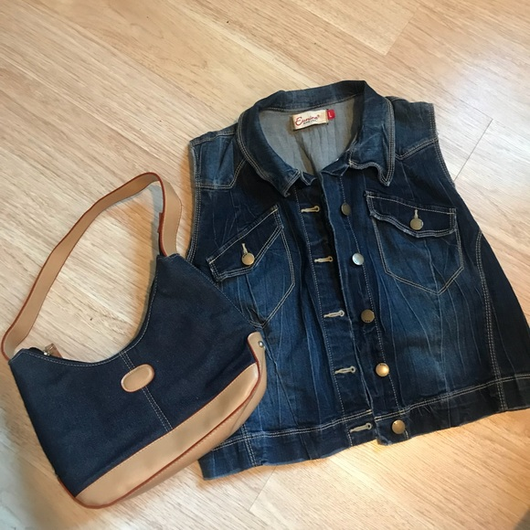 Jackets & Blazers - Gilet vintage denim jacket